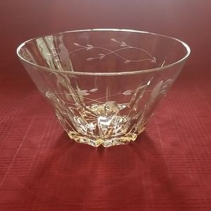 Lead Crystal Salad Bowl